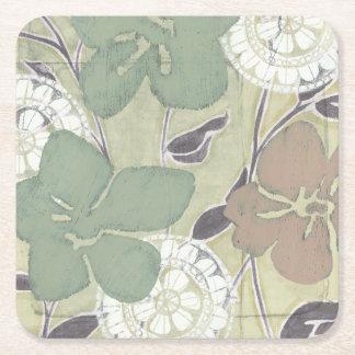 Serene Pastels II Square Paper Coaster