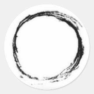 Serene Qi Round Sticker