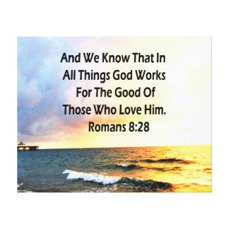 SERENE ROMANS 8:28 SCRIPTURE VERSE CANVAS PRINT