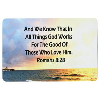 SERENE ROMANS 8:28 SCRIPTURE VERSE FLOOR MAT