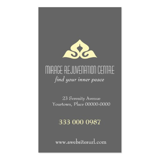 Serene Salon Appointment Business Card
