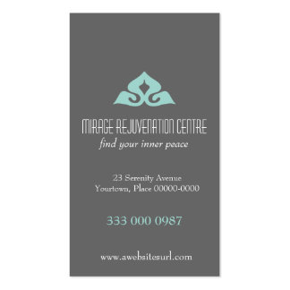 Serene Salon Aqua Appointment Business Card Template