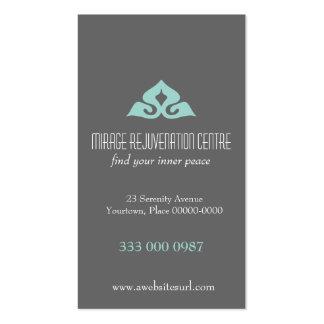 Serene Salon Aqua Appointment Business Card Template
