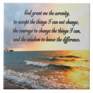 SERENE SERENITY PRAYER SUNRISE PHOTO DESIGN CERAMIC TILE