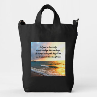 SERENE SERENITY PRAYER SUNRISE PHOTO DESIGN DUCK BAG