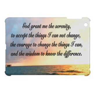 SERENE SERENITY PRAYER SUNRISE PHOTO DESIGN iPad MINI COVERS