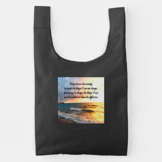 SERENE SERENITY PRAYER SUNRISE PHOTO DESIGN REUSABLE BAG