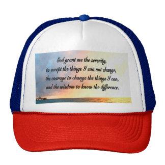 SERENE SERENITY PRAYER SUNRISE PHOTO DESIGN TRUCKER HAT