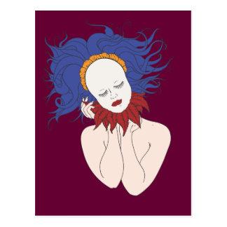 Serene Spirit Blue Marionette Postcard