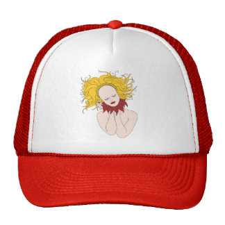 Serene Spirit Golden Hair Trucker Hat