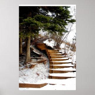 Serene Stairway Posters