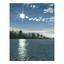 Serene Sun Bounce Art Letterhead
