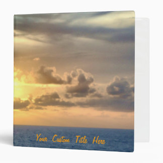 Serene Sunrise Custom 3 Ring Binder