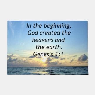 SERENE SUNRISE GENESIS 1:1 PHOTO SCRIPTURE DOORMAT