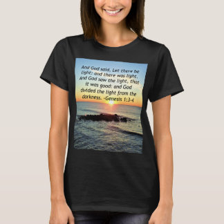 Serene Sunrise Genesis 1:3 Bible Design T-Shirt