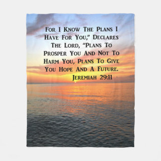 SERENE SUNRISE JEREMIAH 29:11 BIBLE VERSE FLEECE BLANKET