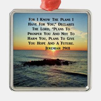 SERENE SUNRISE JEREMIAH 29:11 SCRIPTURE DESIGN METAL ORNAMENT