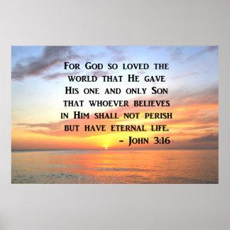 SERENE SUNRISE JOHN 3:16 PHOTO DESIGN POSTER