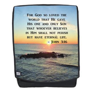 SERENE SUNRISE PHOTO JOHN 3:16 BACKPACK