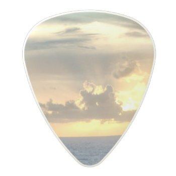 Serene Sunrise Polycarbonate Guitar Pick by CruiseReady at Zazzle