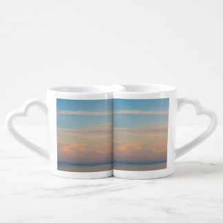 Serene sunset coffee mug set
