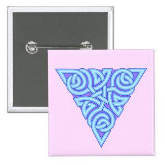 Serene Triangle Knot Square Button