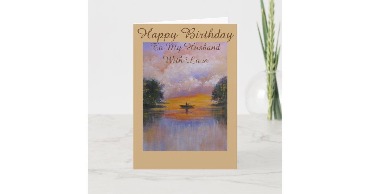 Serene View Birthday Greeting Card For Husband