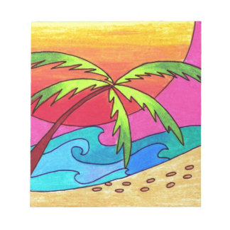 Serene Walk on the Beach Notepad