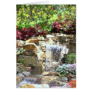 Serene Waterfall (blank greeting card) Card