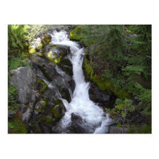 Serene Waterfall Postcard