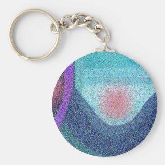 Serene Wave Design Keychains