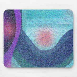 Serene Wave Design Mouse Pad