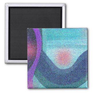 Serene Wave Design Refrigerator Magnet
