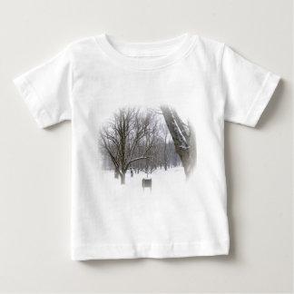 Serene Winter Sleep Baby T-Shirt