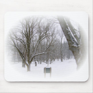 Serene Winter Sleep Mouse Pad