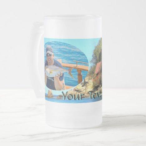 Serene Yelapa 0758 Frosted Glass Beer Mug