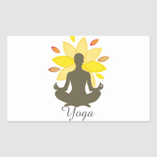 Serene Yoga Lotus Pose Sticker