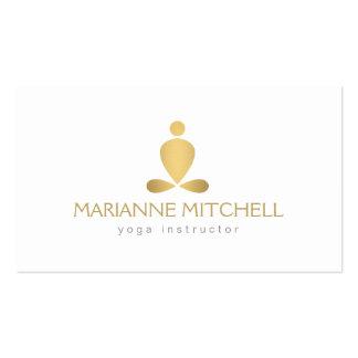 Serene Yoga, Meditation, Zen White Business Card