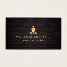 Serene Yoga, Meditation, Zen Wood Background Business Card at Zazzle