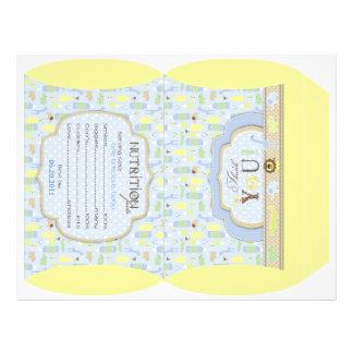 Serengeti Baby Puff Box Template Personalized Flyer