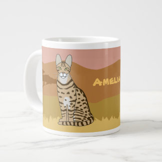 Serengeti Cat Breed African Savannah Personalized Large Coffee Mug