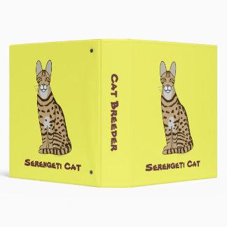Serengeti Cat Breed Customizable 3 Ring Binder
