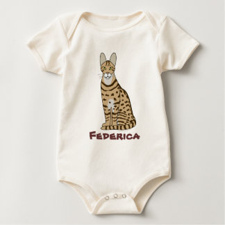 Serengeti Cat Breed Customizable Baby Bodysuit