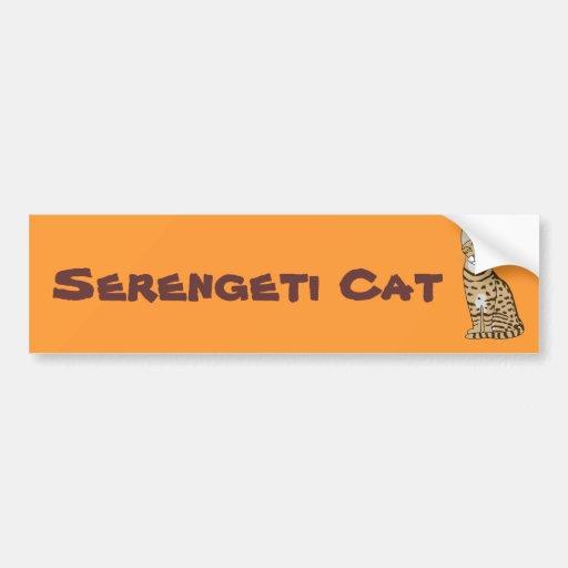 Serengeti Cat Breed Customizable Bumper Sticker