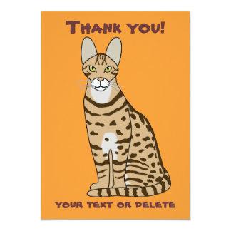 Serengeti Cat Breed Customizable 5x7 Paper Invitation Card
