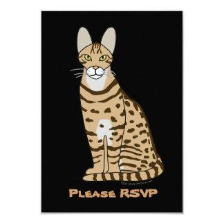 Serengeti Cat Breed Customizable 3.5x5 Paper Invitation Card