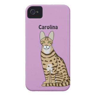 Serengeti Cat Breed Personalized Blackberry Case