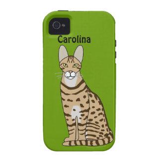 Serengeti Cat Breed Personalized iphone 4g Case Vibe iPhone 4 Case