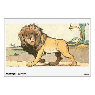 Serengeti Desert Lion on the Prowl Wall Sticker