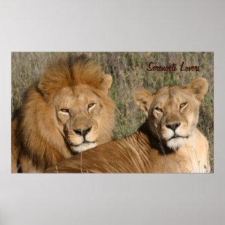 Serengeti Lovers - Print